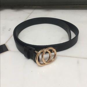 Gold loop belt